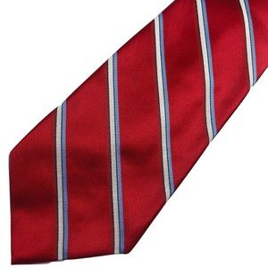 Brooks Brothers Golden Fleece Tie Silk Red Striped